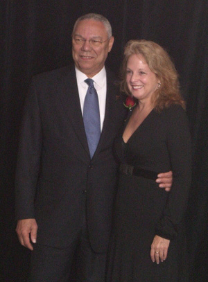 Paula Lucas and Collin Powell